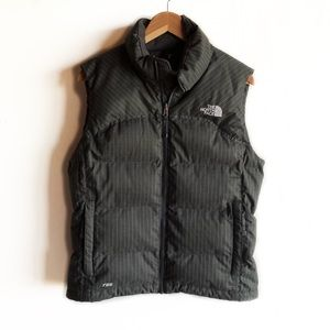 North Face gray goose down puffer vest
